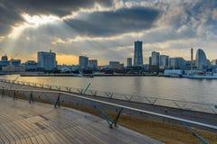 Pilastro di osanbashi di Yokohama, Giappone Fotografie Stock