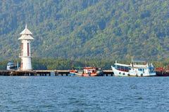 Pilastro di pesca Fotografia Stock Libera da Diritti