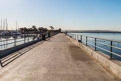 Pilastro di pesca al parco di Chula Vista Bayfront Fotografia Stock