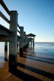 Pilastro di pesca della spiaggia Immagine Stock