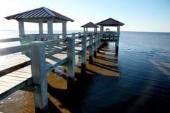 Pilastro di pesca della spiaggia Fotografia Stock Libera da Diritti