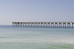 Pilastro di pesca a Pensacola Fotografia Stock