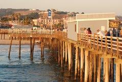 Pilastro di Pismo alla spiaggia di Pismo in California Fotografia Stock