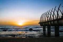 Pilastro di Umhlanga Durban nell'alba Fotografia Stock