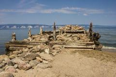 Pilastro distrutto del mare immagine stock libera da diritti
