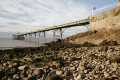 Pilastro e spiaggia di Clevedon Fotografia Stock