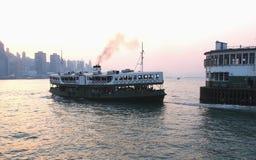 Pilastro ed il traghetto della stella in Hong Kong fotografia stock libera da diritti