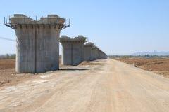 Pilastro ferroviario ad alta velocità Fotografia Stock