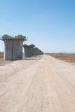 Pilastro ferroviario ad alta velocità Fotografia Stock Libera da Diritti