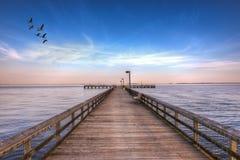 Pilastro nel Chesapeake Fotografia Stock