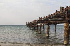 Pilastro nel mare Fotografia Stock