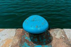 Pilastro nel porto di Cagliari fotografie stock libere da diritti