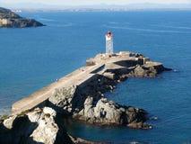 Pilastro nel porto di Vendres della porta Fotografia Stock