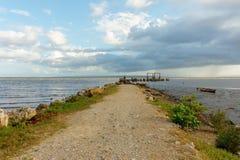 Pilastro o monticello marino nel mare fotografie stock libere da diritti