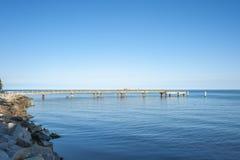 Pilastro in Sassnitz sull'isola della GEN del ¼ di RÃ fotografia stock