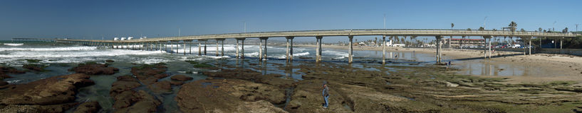 Pilastro splendido California panoramica della spiaggia dell'oceano Immagine Stock