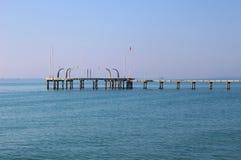 Pilastro sui Di Venezia, Italia di lido dell'isola Immagini Stock