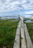 Pilastro sul lago Immagini Stock