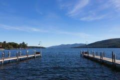 Pilastro sul lago George, NY, U.S.A. Immagine Stock