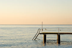 Pilastro sull'oceano Fotografie Stock