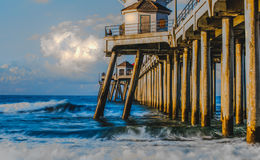 Pilastro variopinto del Huntington Beach Fotografia Stock