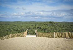 Pilat dune, the largest sand dune in Europe. Near Arcachon Gironde France Aquitaine Stock Images