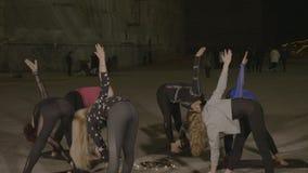 pilates会议在欧洲盐矿分类举行促进旅游业和健康生活方式- 影视素材