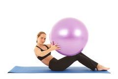 Pilates Übungsserie Lizenzfreies Stockfoto