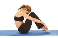 Pilates Übungsserie stockbilder
