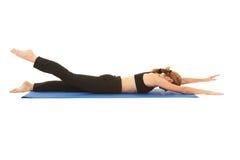 Pilates Übungsserie Lizenzfreies Stockbild