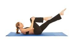 Pilates Übungsserie Lizenzfreie Stockbilder
