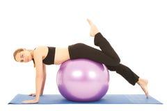 Pilates Übungsserie Stockfotografie