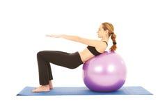Pilates Übungsserie Stockfotos