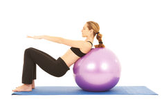 Pilates Übungsserie Lizenzfreie Stockfotos