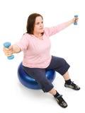 pilates συν το μεγέθους workout Στοκ φωτογραφία με δικαίωμα ελεύθερης χρήσης