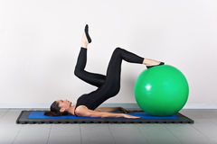 pilates гимнастики Стоковое фото RF