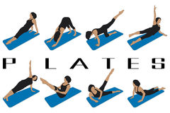 Pilates Royalty-vrije Stock Afbeeldingen