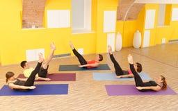 Pilates aérobie Images libres de droits