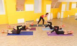 Pilates aérobie Image libre de droits