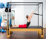 Pilates aerobic instructor woman in cadillac Stock Image
