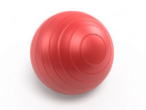 Pilates Ball. 3d render red Pilates Ball ( on white and clipping path Royalty Free Stock Image