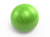 Pilates Ball. 3d render green Pilates Ball ( on white and clipping path Royalty Free Stock Photos