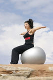Pilates ball. Improve flexibility and build lean muscles - pilates/yoga/fitness ball Stock Image