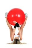 Pilates ball and fitness concept Royalty Free Stock Photo