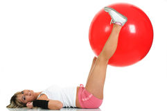 Pilates ball and fitness concept Royalty Free Stock Images