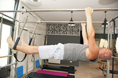 Pilates boy Royalty Free Stock Image