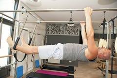Pilates boy Royalty Free Stock Image