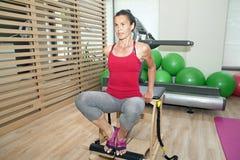 Pilates on chair Stock Photo