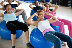 Pilates class in a gym Royalty Free Stock Photography
