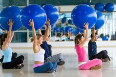 Pilates class at the gym Stock Image